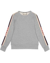 c70bc974df5a Gucci Cotton Sweatshirt With Kingsnake Print in Blue for Men - Lyst