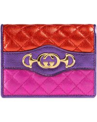 Gucci - Laminated Leather Card Case Wallet - Lyst