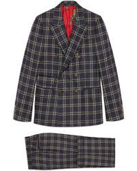 Gucci - Costume New Signoria en flanelle à carreaux - Lyst