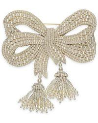 Gucci - Resin Pearl Bow Brooch - Lyst