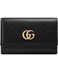 Gucci - GG Marmont Leather Key Case - Lyst