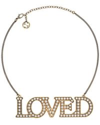 Gucci - Loved Necklace With Pearls - Lyst