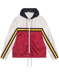 """Gucci - Nylon Jacket With """"guccy"""" - Lyst"""