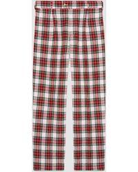 Gucci - Soft Tartan Pajama Pant - Lyst