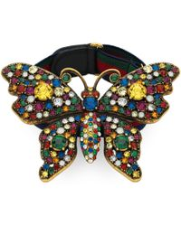 Gucci - Schmetterling-Armband mit Kristallen - Lyst