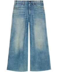 Gucci - Denim Trousers With Patches - Lyst