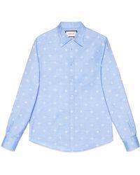 Gucci - Camisa Duke de Oxford de Jacquard con Abeja - Lyst