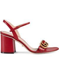 Gucci - Logo-embellished Leather Sandals - Lyst