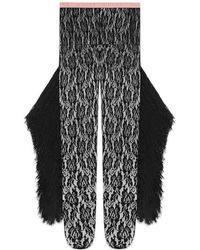 Gucci - Lace Tights With Fringe Tassles - Lyst
