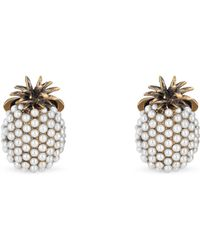 Gucci - Pineapple Cufflinks With Glass Beads - Lyst