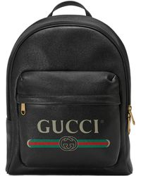 Gucci - Print Leather Backpack - Lyst