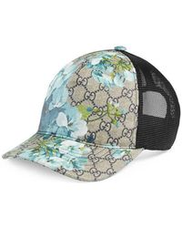 1855838699b Lyst - Gucci Gg Blooms Baseball Hat in Blue for Men