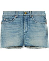 Gucci - Denim Shorts With Patches - Lyst