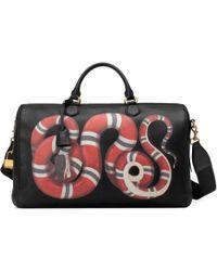 a7b738b30cda Gucci Black Rubberized Ssima Leather Bag in Black for Men - Lyst
