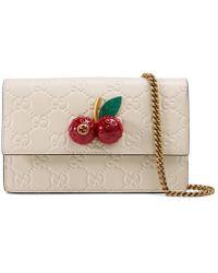 Gucci - Signature Mini Bag With Cherries - Lyst