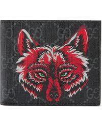 Gucci - Portemonnaie mit Wolfs-Print - Lyst