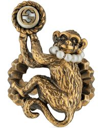 Gucci - Monkey Ring In Metal - Lyst