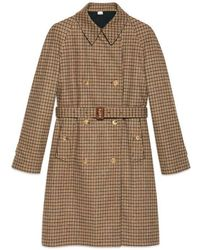 Gucci - Reversible Check Trench Coat - Lyst