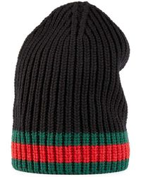 Gucci - Wool Hat With Web - Lyst