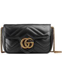 f5e2eb7e7de Gucci - GG Marmont Matelassé Leather Super Mini Bag - Lyst