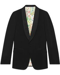 Gucci - Signoria Wool Jacket With Embroidery - Lyst