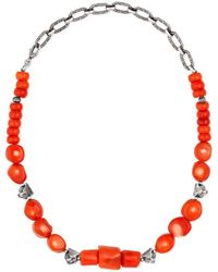 Gucci - Anger Forest Beaded Necklace In Silver - Lyst