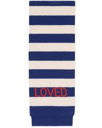 Gucci - Striped Wool Scarf With Tiger - Lyst