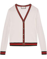 Gucci - Merino Wool Knitted Cardigan - Lyst