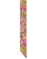 Gucci - - Silk Neck Bow With Watercolor Flowers - Lyst