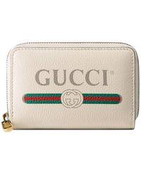 Gucci - Logo Leather Card Case - Lyst