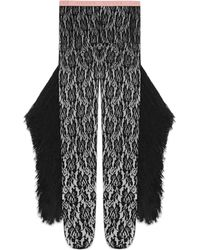 d409accb2 Gucci - Lace Tights With Fringe Tassles - Lyst