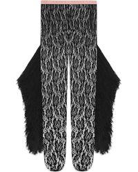 Gucci - Collants en dentelle avec franges et pampilles - Lyst