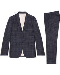 Gucci - Costume Monaco en laine à motif pois - Lyst