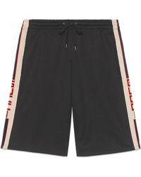 Gucci Shorts aus technischem Jersey - Schwarz