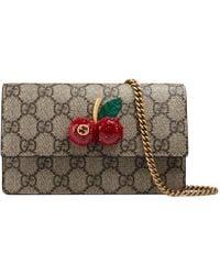 Gucci - Gg Supreme Mini Bag With Cherries - Lyst