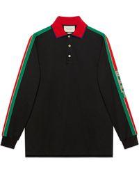 Gucci - Poloshirt aus Baumwolle mit Streifen - Lyst