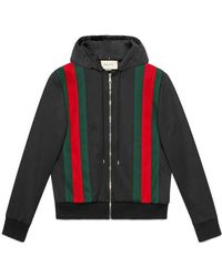 Gucci - Technical Jersey Bomber With Hood - Lyst