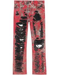 Gucci - Zerrissene Hose aus Denim - Lyst