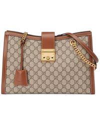 4a1cab6824c Gucci - Padlock Gg Supreme Canvas Shoulder Bag - Lyst