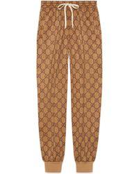 Gucci - Pantalón de Chándal de Punto Técnico con GG - Lyst