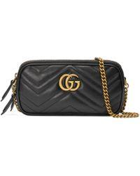 Gucci - Minibolso GG Marmont con Cadena - Lyst
