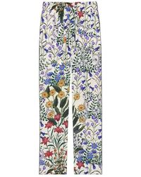 Gucci - New Flora Print Silk Pajama Pant - Lyst