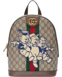 Gucci - Ophidia GG Backpack With Three Little Pigs - Lyst