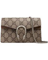 123411009ae7 Gucci - Beige Dionysus GG Supreme Super Mini Bag - Lyst