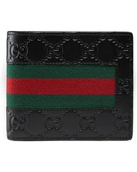 Gucci | Signature Web Wallet With Id Window | Lyst