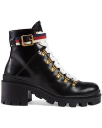 99cb01094 Gucci Boots - Women's Ankle Boots & Leather Boots Online Sale - Lyst