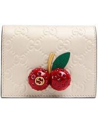 Gucci - Porte-cartes Signature avec cerises - Lyst