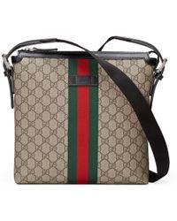 Gucci - Borsa a tracolla in tessuto GG Supreme - Lyst
