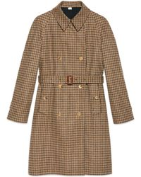 Gucci - Trench a Cuadros Reversible - Lyst