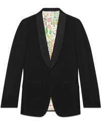 Gucci - Signoria Jacke aus Wolle mit Stickerei - Lyst